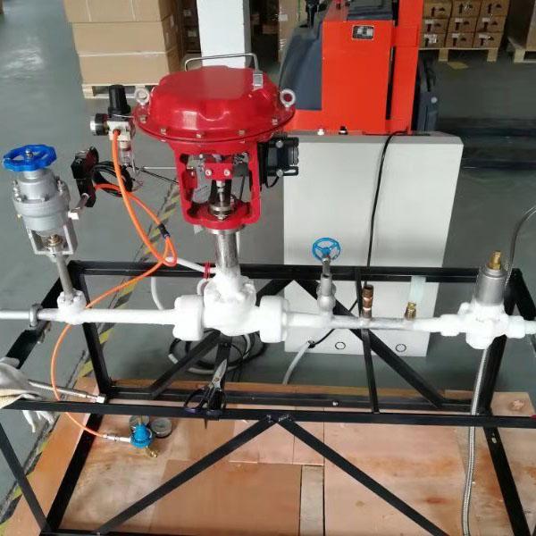 给客户定制的全自动液氮稳定喷射系统